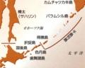 千島列島と樺太の地図