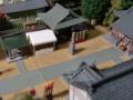 神社のジオラマ