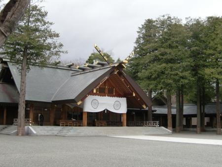 北海道神宮 拝殿  北海道神宮 拝殿 20100510  個別「北海道神宮 拝殿」の写真、画像、