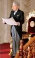 平成20年1月、第169回通常国会でお言葉を述べられる天皇陛下