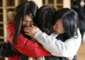 地震から初めての登校日となった県立釜石商工高校