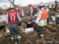 東日本大震災の被災地で活動する緊急消防援助隊