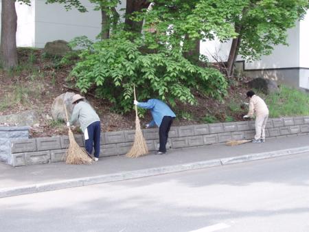 敬神婦人会の清掃奉仕