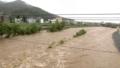 台風12号により増水した豊平川
