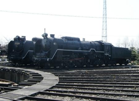 C62型とD51型(梅小路蒸気機関車館)
