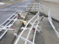 大震災から9カ月後の仙台 荒浜地区(砂浜にある防波堤)