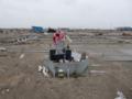 大震災から9カ月後の仙台 荒浜地区(お寺の跡)