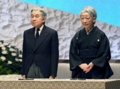 東日本大震災1周年追悼式での天皇皇后陛下