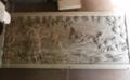 製作中の西野神社祭神由緒彫刻額