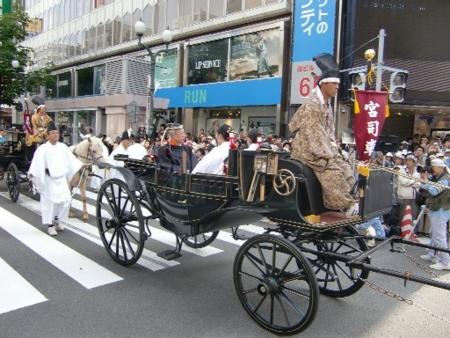 平成24年 北海道神宮 神幸行列(宮司と巫女)  平成24年 北海道神宮 個別「平成24年 北海