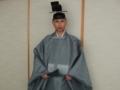 鈍色の衣冠を着装した須浪宮司