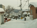 西野神社近郊の雪道(平成24年12月)