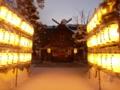 年末の参道・社殿