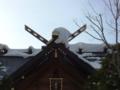年末の社殿屋根