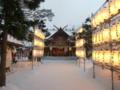 平成25年正月 社殿と奉納提灯