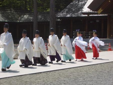 平成20年 札幌支部神社関係者大会 正式参拝 斎主以下祭員
