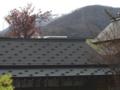 西野神社境内から望む手稲山山頂の冠雪
