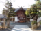 西野神社 拝殿と参道(降雪前)