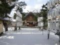 平成25年 年末の西野神社(参道と拝殿正面)