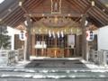 平成25年 年末の西野神社(拝殿向拝)