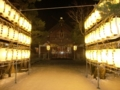 平成25年 年末の西野神社(奉納提灯)