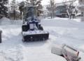 第一駐車場の除雪作業