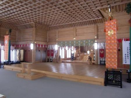 上川神社 拝殿内