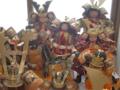 人形供養祭に向けて集まってきた人形達