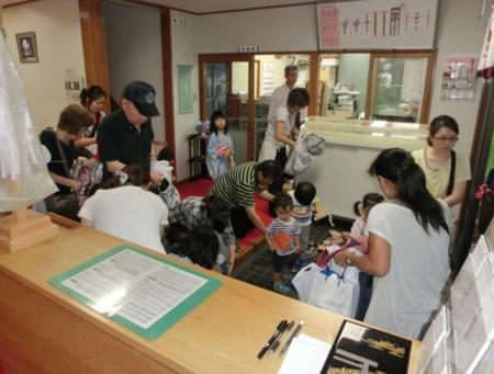 平成26年 西野神社 七夕まつり(社務所玄関)