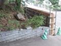 平成26年 神楽殿・神輿殿裏擁壁工事