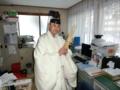 平成27年元日 西野神社 社務所(歳旦祭直前の越川権禰宜)