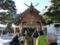 平成27年正月 西野神社 境内の様子(拝殿前)