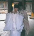 女子神職装束(石清水八幡宮にて)