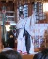 人長舞装束(北海道神宮にて)