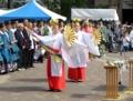 北海道神宮駐輦祭での巫女(大通公園)
