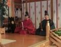 西野神社創祀130年臨時大祭(宮司と松澤権禰宜)