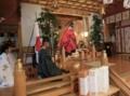 西野神社創祀130年臨時大祭(撤饌・垂簾を終えて)
