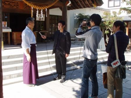 UHB「みんなのテレビ」 西野神社での取材