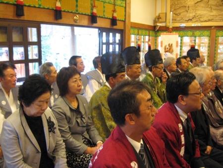 西野神社秋まつりでの皐月会の活動