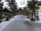 平成27年 西野神社での初雪