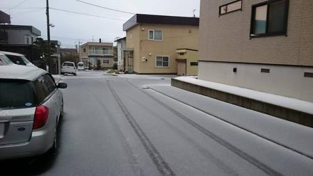 平成27年 平和地区での初雪