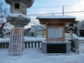 西野神社 年末の境内