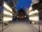平成27年末 西野神社の社殿と奉納提灯