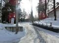 西野神社第2駐車場 出入口