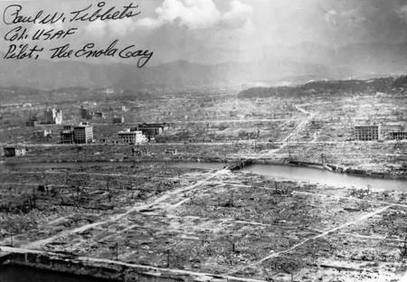 原爆投下直後の広島の様子