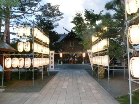 平成28年9月 秋まつり前日の社殿風景