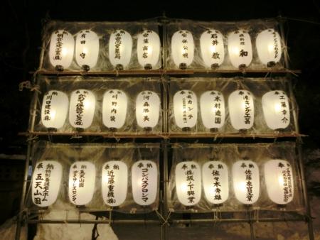 西野神社 奉納提灯