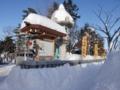 平成28年12月下旬 西野神社玉垣と駐車場出入口