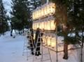 平成28年12月下旬 西野神社奉納提灯 調整作業