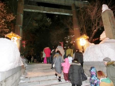 平成29年元旦の西野神社(鳥居)